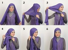 Looking for ideas on how to wear hijab elegantly? Or just a Simple Hijab Tutorial? Or perhaps you want tips to style hijab for a beautiful look? Well, we understand that Hijab fashion is at its peak these days. Hijab Styles, Scarf Styles, Simple Hijab Tutorial, Hijab Style Tutorial, Tutorial Hijab Pashmina, Pashmina Scarf, Hijab Fashionista, Sari, How To Wear Hijab
