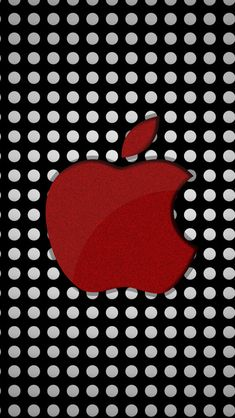 Red Apple Logo On Polka Dots #iPhone #5s #Wallpaper | http://www.ilikewallpaper.net/iphone-5-wallpaper, more wonderful wallpapers download here.