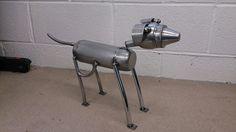 Metal dog, whippet