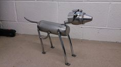 Metal dog, whippet