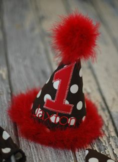 party hats for boys | Boys Birthday Party Hat, Diaper Cover, Tie - First Birthday, Smash ...