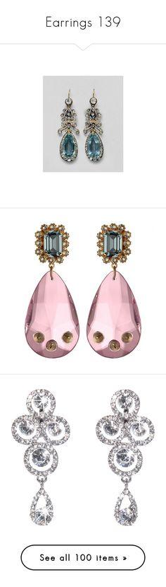 """Earrings 139"" by singlemom ❤ liked on Polyvore featuring jewelry, earrings, accessories, tear drop earrings, pink teardrop earrings, spikes jewelry, tear drop jewelry, blue jewelry, dresswe and earring jewelry"