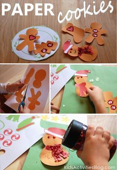 """hmmm... maybe the kids can make paper """"cookies"""" for Santa this Christmas? {cute printable}"""
