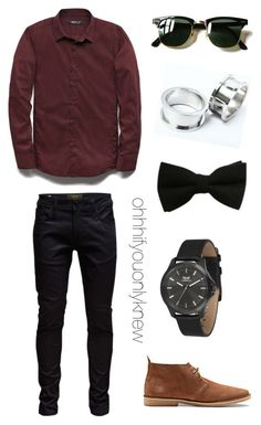 """""""Untitled #238"""" by ohhhifyouonlyknew ❤ liked on Polyvore featuring 21 Men, Jack & Jones, Ray-Ban and Vestal"""