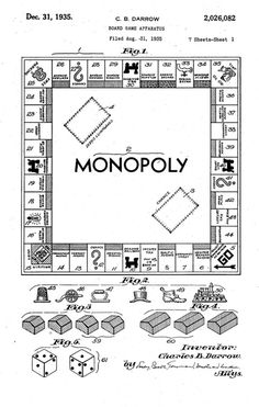 Charles Darrow submitted it to Parker Brothers in 1934, which promptly rejected it as being too complicated. Darrow was selling the game privately, and sales reached an impressive enough level that Parker Brothers contacted him in 1935, bought out his inventory and the rest is history.