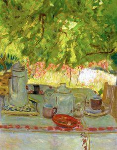 Pierre Bonnard / Petit déjeuner sous la tonnelle