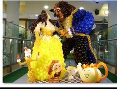 #balloon #beauty and the beast #balloon #art #sculptures #twist #characters #balloon #disney #princess #belle