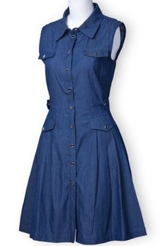 Button Front Denim Dress - classic!