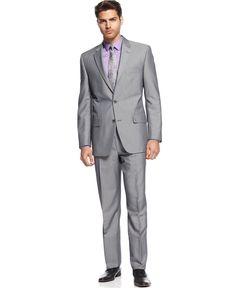 Alfani Suit Light Grey Heather - Shop All Suits - Men - Macy's
