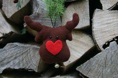 Weihnachtsdeko / Stoffanhänger Rudolf от BogThomHandmade на Etsy