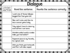 quotation marks anchor chart with freebie writing ideas and projects 3rd grade writing. Black Bedroom Furniture Sets. Home Design Ideas