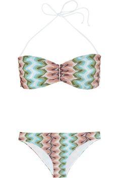 MISSONI Sfumato Crochet-Knit Bandeau Bikini. #missoni #cloth #beachwear
