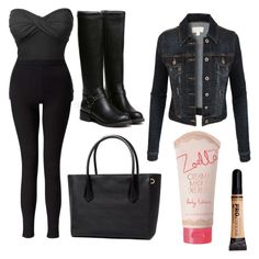 """""""Mobbed: Lay"""" by scarletpeak ❤ liked on Polyvore featuring LE3NO, Miss Selfridge and Zoella Beauty"""