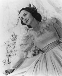 "Olivia de Havilland as Melanie Wilkes in ""Gone With the Wind""."