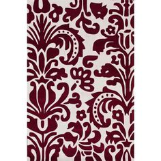 Paris Red 3 ft. 6 in. x 5 ft. 6 in. Area Rug