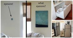 Hide eyesores in your home with these creative ideas
