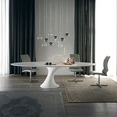 From wood chairs to upholstered pieces, there are many types of dining room chairs for your dining interior. See our gallery of modern dining room chairs.