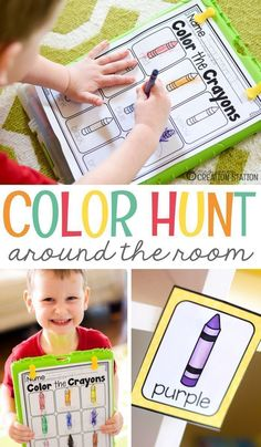 Color Hunt Around the Room