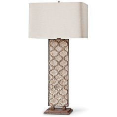 Carved Panel Table Lamp by Regina Andrew.