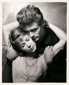 "James Dean and Julie Harris in ""East of Eden"", 1955"
