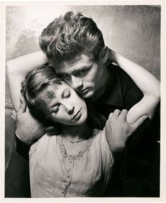 "James Dean and Julie Harris in ""East of Eden"", 1955"