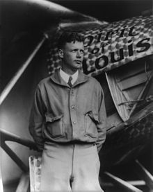 Charles Lindbergh (1902-1974), shown here with his Spirit of St. Louis, was the first person in history to be in New York one day and Paris the next, thanks to his record-breaking flight over the Atlantic.