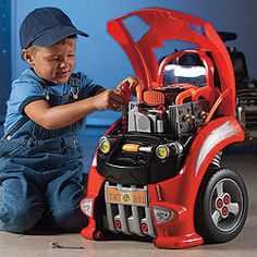 Car that he can really tune up including changing the tires and rebuilding the motor.