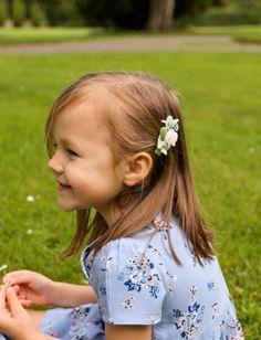 Blue Flower hair clips — Daisy & Tanya Flower Hair Clips, Flowers In Hair, Blue Flowers, Baby Headbands, Blush Pink, Daisy, Hair Accessories, Handmade, Hand Made