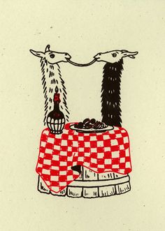 LLAMA SALUTATIONS - The Art of Alexandra Beguez