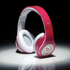 Beats By Dre Studio White Diamon Rose Red