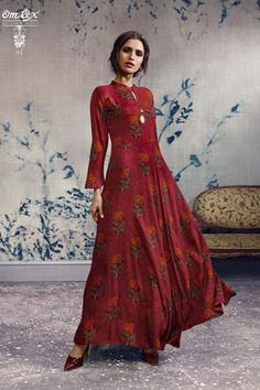 e56b5c393d9 Omtex Mirabel Georgette With Embroidery Work Brand  Omtex Catalog  Mirabel  Fabric  Rayon Long dress Size  L