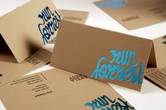 Designed by: Swear Words  A folding business card with a perforation so that people can write something on a side that can be torn off. | Swear Words http://www.swearwords.com.au/