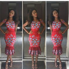 Check Out Latest Ankara Styles and Dresses > http://www.dezangozone.com/2016/03/creative-lace-design.html sexy short ankara dresses online