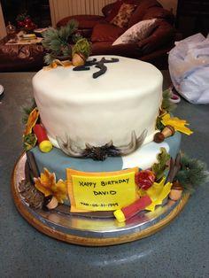 Hunting birthday cake