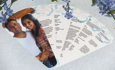 Photo Wedding Program Fan 6 Petals by ayleighdesigns on Etsy, $3.00
