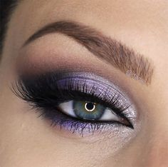 lilac purple smokey eye ~ we ❤ this! moncheribridals.com
