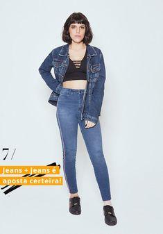 54ea747a3f Associe um cropped básico a uma jaqueta jeans para um resultado prático e  cool. julia