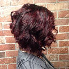 Violet balayage Love this ♥️ Ombré Hair, Hair Dos, Cherry Hair, Wine Hair, Hair Color Balayage, Purple Hair, Short Burgundy Hair, Hair Today, Fall Hair