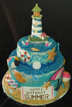 Beach Birthday Cake This Is Vegan And Gluten Free Los Angeles CA