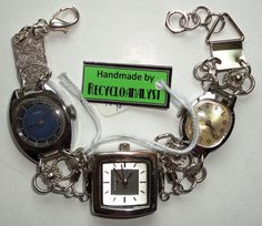 Steampunk Recycled Vintage Watches With Working by Recycloanalyst, $40.00