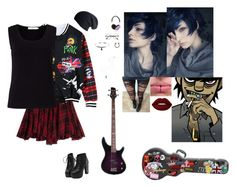 """""""Gizmo Lee *Gorillaz OC*"""" by lesbianpride ❤ liked on Polyvore featuring Polo Ralph Lauren, Chicnova Fashion, John Lewis, Lime Crime, Frends and CO"""