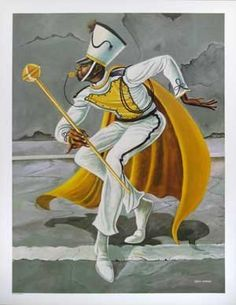 """The Drum Major"" print by Ernie Barnes 26 x 20 in. by Ernie Barnes, http://www.amazon.com/dp/B008J56NRM/ref=cm_sw_r_pi_dp_9TInrb13MJHZ5"