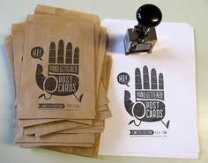 Hi Five postcard set - numbering by Esther Aarts, via Flickr