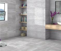 Kite Gloss Grey Floor Tile - Kite from Tile Mountain Grey Floor Tiles, Grey Flooring, Wall And Floor Tiles, Wall Tiles, Real Style, Grey Walls, Kite, Wall Colors, Natural Stones
