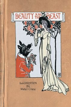 Beauty and the Beast - illustration Walter Crane