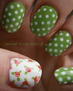 Polka dot nails by One Nail To Rule Them