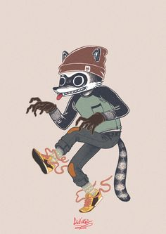 Rascals: The Raccoon, The Cat, The Fox on Behance