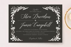 """""""Garden Glamour"""" - Floral & Botanical, Rustic Wedding Invitations in Sage by Kristen Smith."""