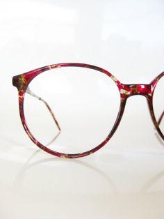 Vintage+OVERSIZED+Italian+Eyeglasses+CRANBERRY+by+OliverandAlexa,+$82.00