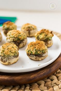 Cream Cheese and Spinach Stuffed Mushrooms